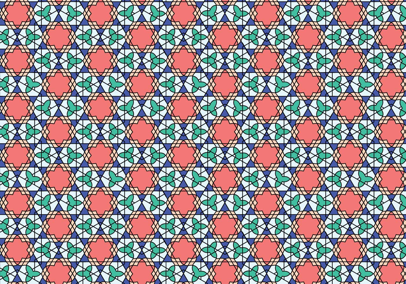 Geometric Moroccan Pattern Bakcground Download Free