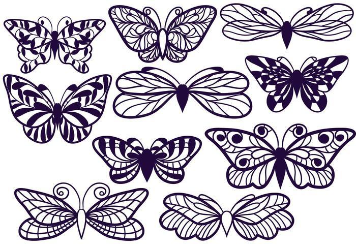 Free Cutout Butterflies