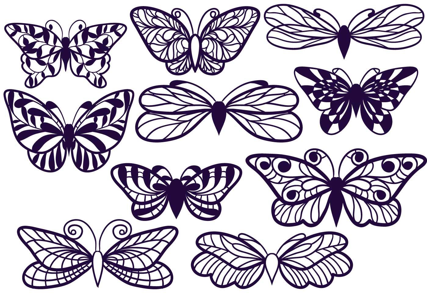 Free Cutout Butterflies Download Free Vector Art Stock