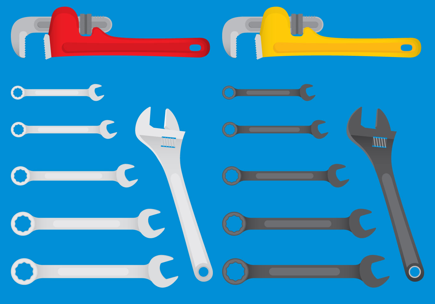 Colorful Mechanic Tool Vector Download Free Vectors