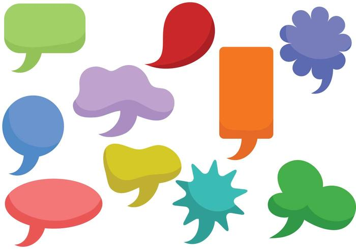 Free Speech Bubbles Vectors