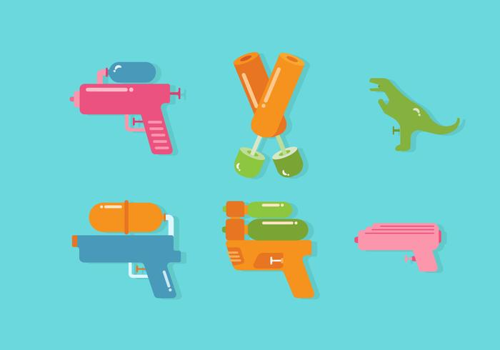 Vector de pistola de agua