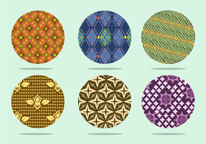 Coloroful Batik Background  Vector