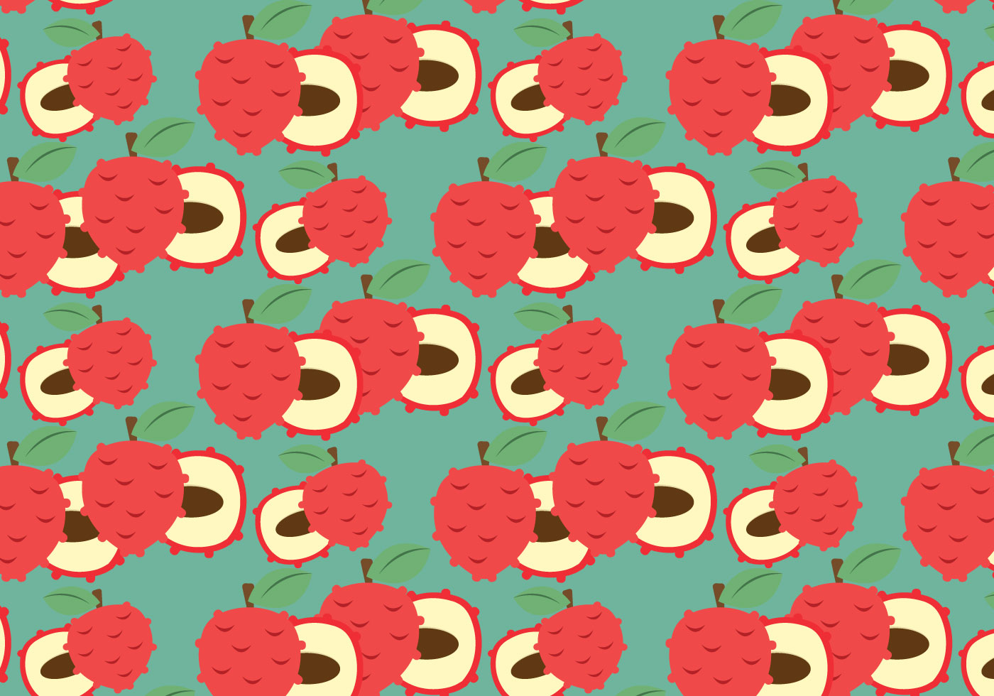 Free Lychee Vector Pattern 2 Download Free Vector Art