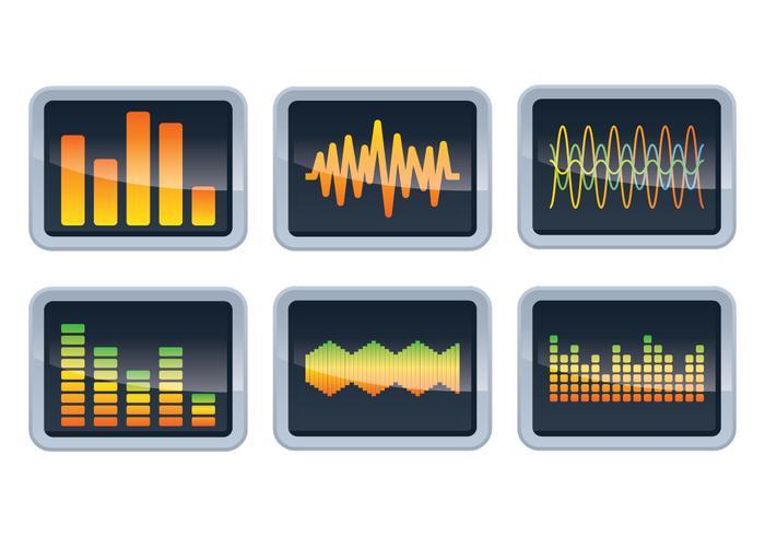 Sound Bars Display Vectors