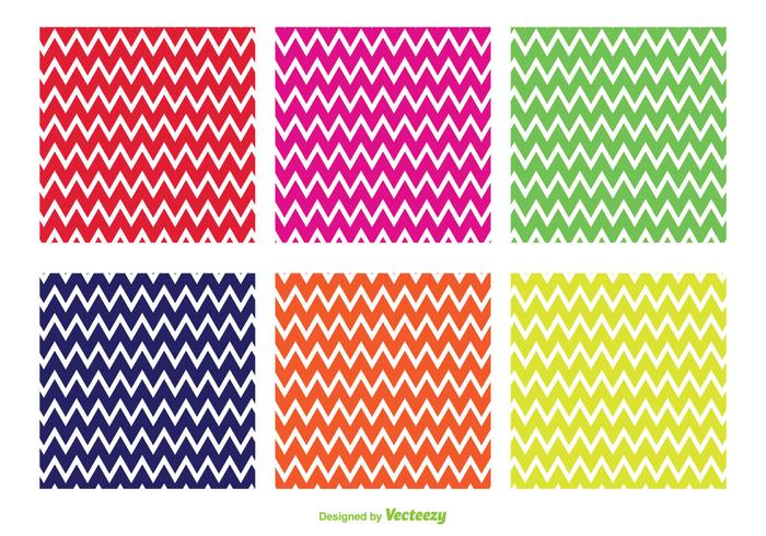 Bright Zig Zag Vector Patterns