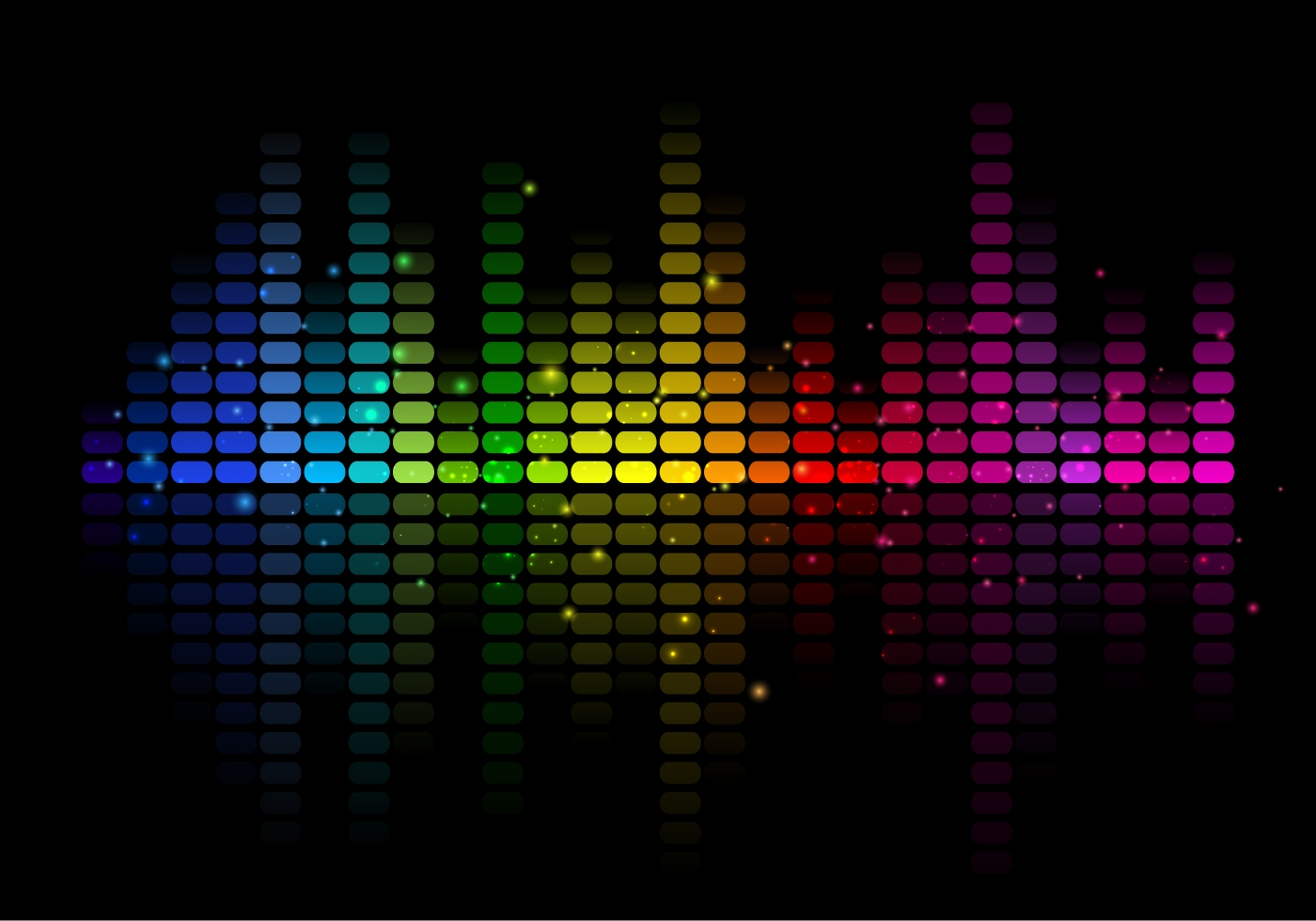Abstract Free Vector Music Equalizer