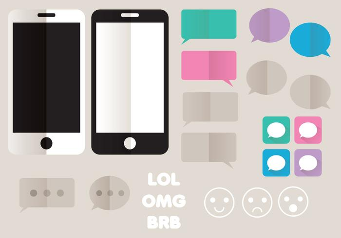 IMessage Estilo Icon Set vector