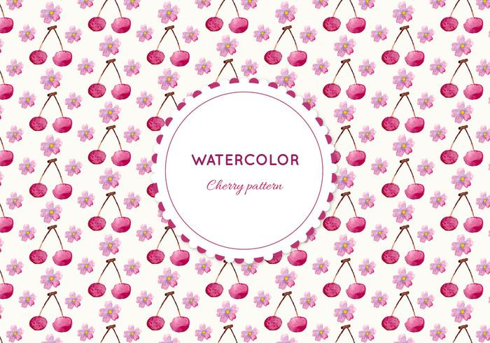Free Vector Watercolor Cherry Pattern