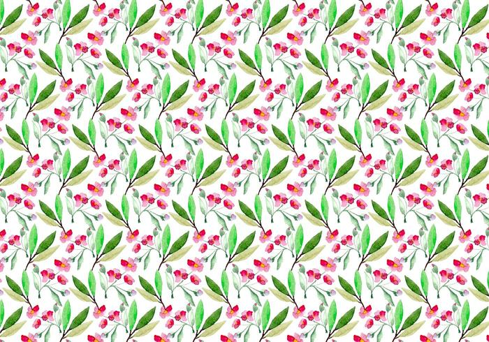 Free Vector Watercolor Cherry Blossom Pattern