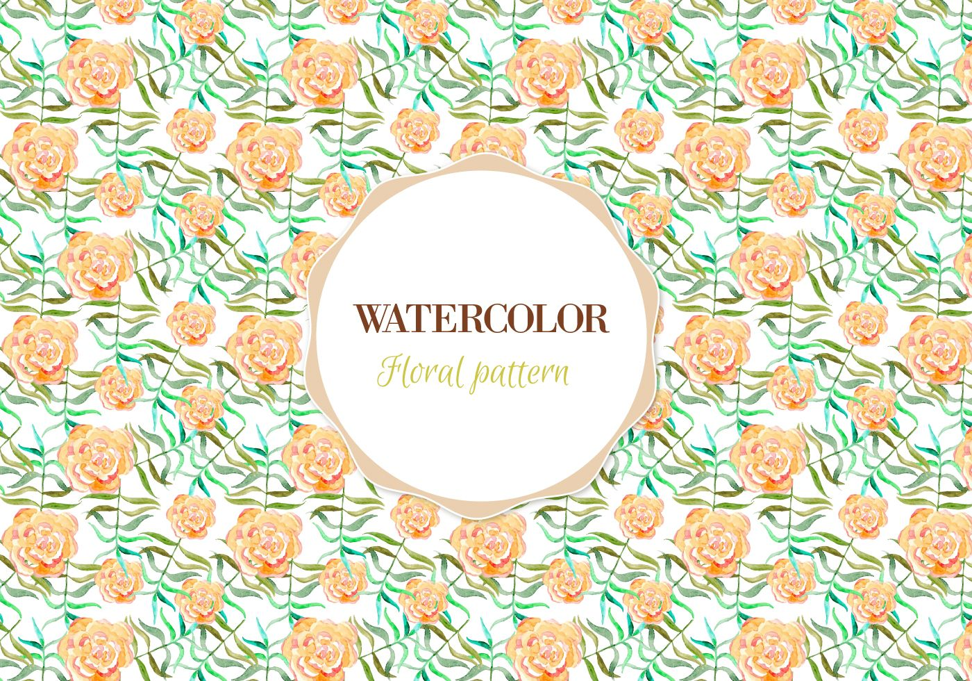 Free Vector Watercolor Floral Pattern Download Free