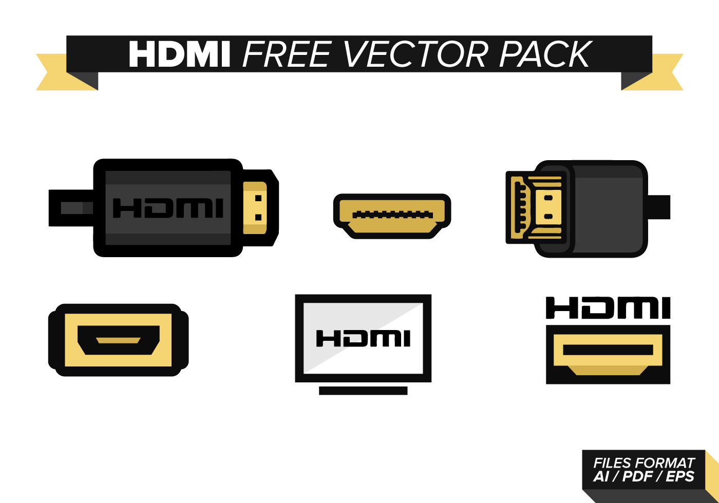 Hdmi Free Vector Art 1410 Downloads Black Web Cable Wire Diagram