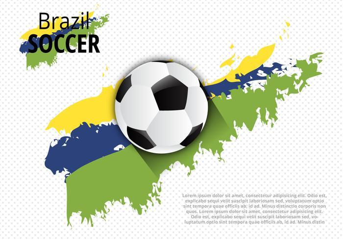 Vector creativo libre del diseño de Brasil