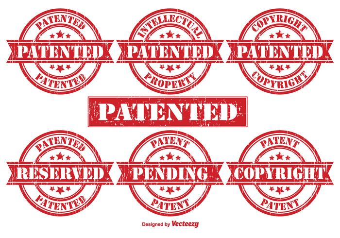 Patent Vector Rubber Stamps