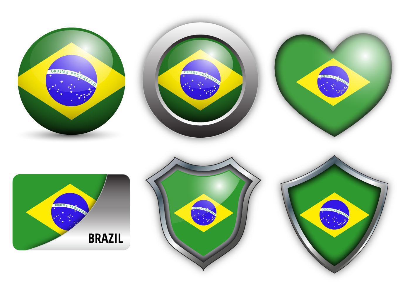 Brazil Flag Vector File Free