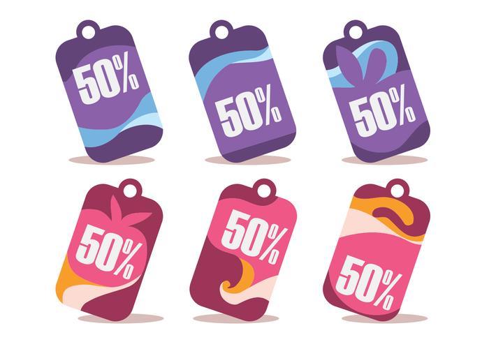 50% de descuento conjunto vector Wobbler