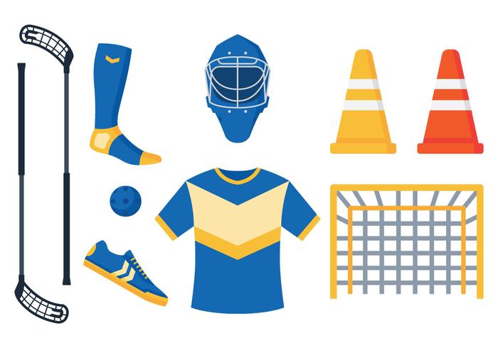 Floorball Equipment Vectors