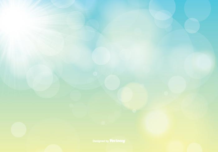 Spring Vector Background with Sunshine