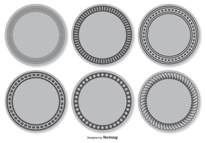 Blank Vector Label Set