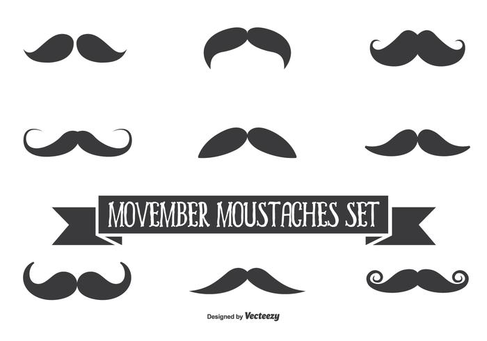 Movember Vector Moustache Set