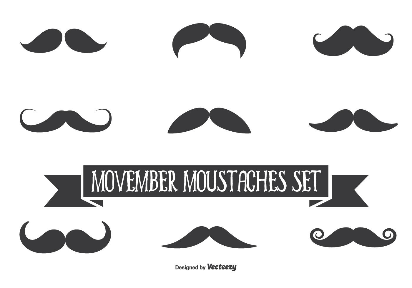 Movember Vector Moustache Set Download Free Vector Art