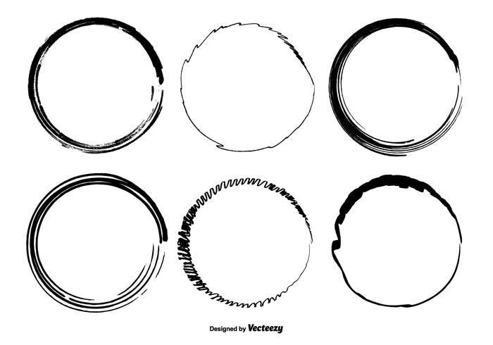 Dibujado a mano círculo formas vectoriales
