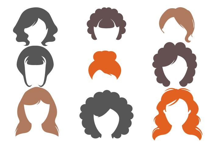 Free Woman Haircuts Vector