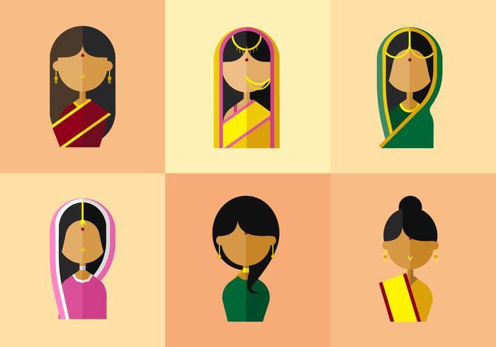 Vektor Indien Kvinna