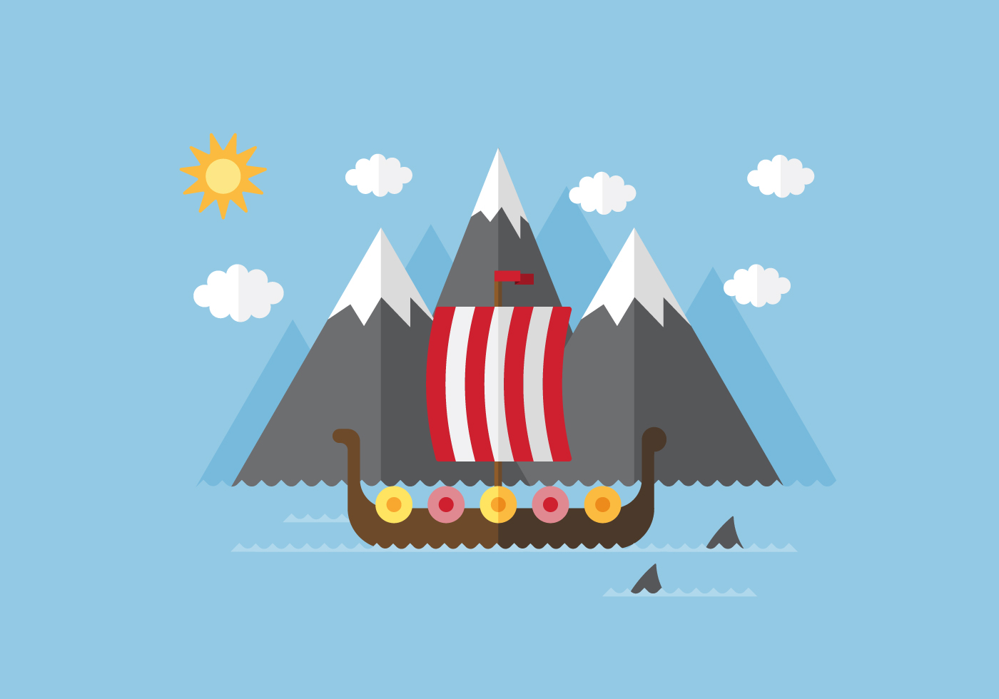Vector VIking Ship - Download Free Vector Art, Stock ...