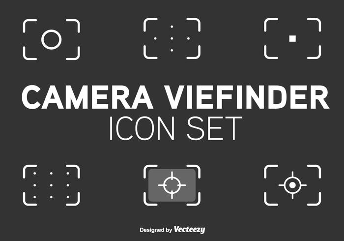 Viewfinder Line Style Vector Icons