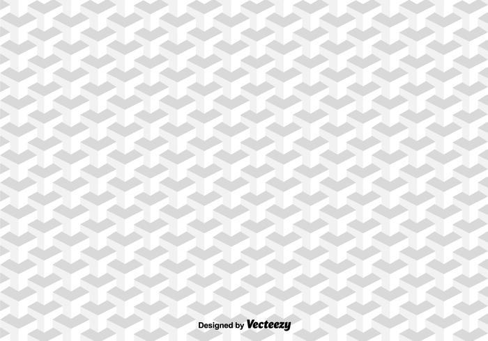 3d kuber vektor mönster
