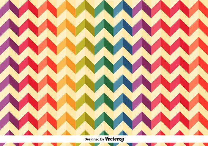 Colourful Herringbone Vector Pattern