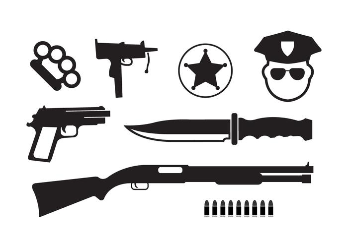 Minimal Crime Vector Icons