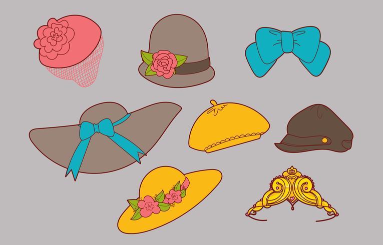 Ladies' Hats Vector Set