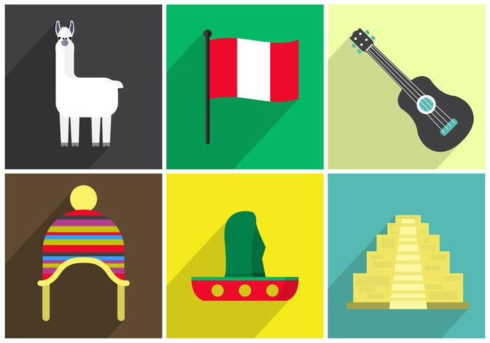 Vector icons of peru download free vector art stock for Art of peruvian cuisine
