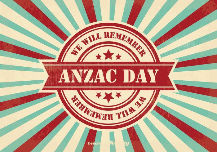 Retro Style Anzac Day Illustration