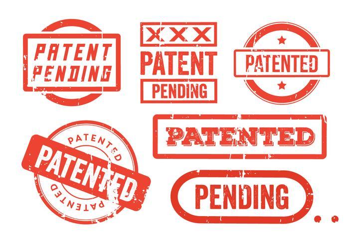 Francobolli di brevetti grunge vettore