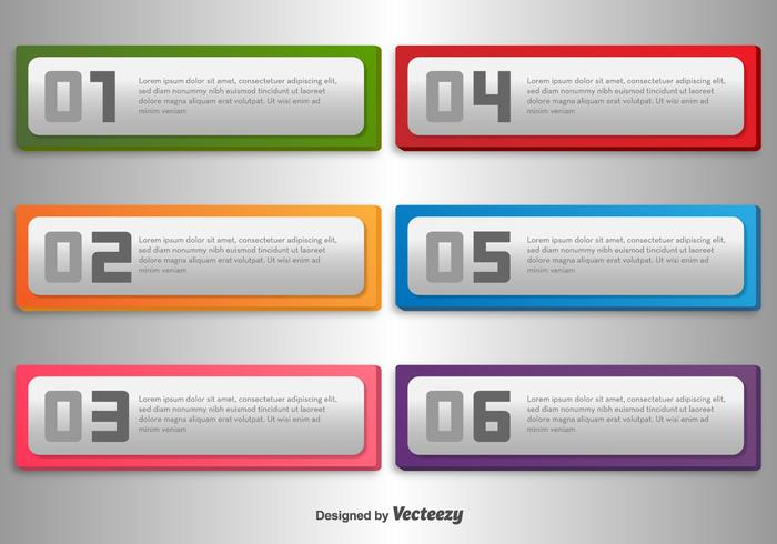 Silver Plate Vector Banners