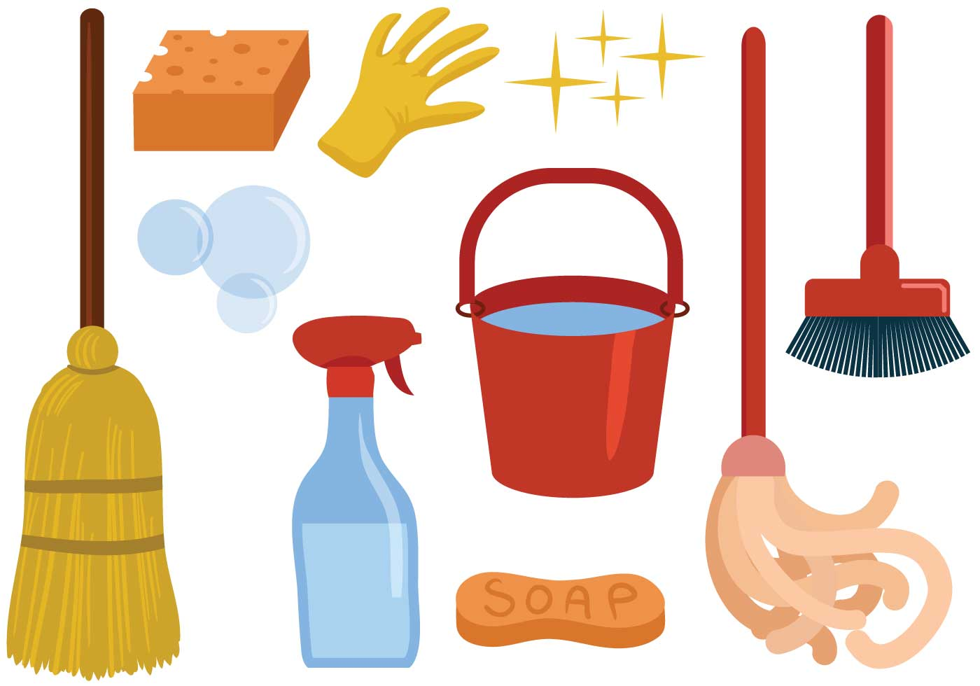 free cleaning vectors