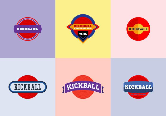 Free Kickball Vector Pack