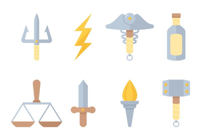 Vetores de símbolos de deuses