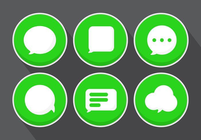 Ícones de mensagem vetorial