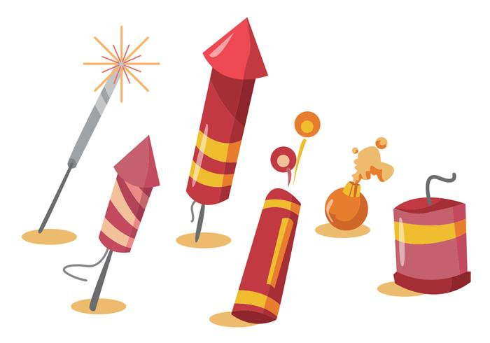 Fire Crackers Vector Set