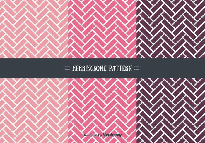 Girly Herringbone patrón de vectores