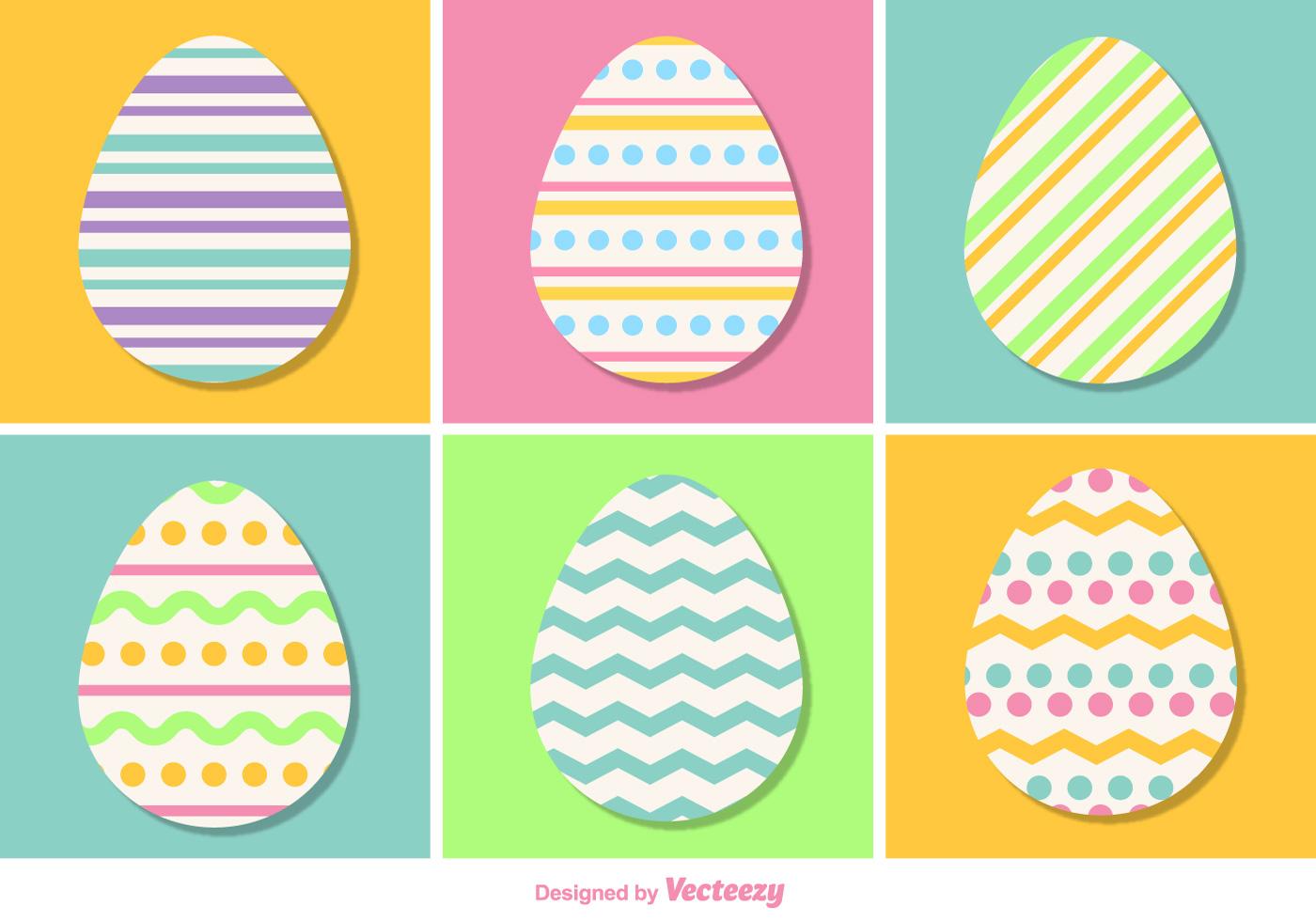 Pastel Color Vector Easter Eggs - Download Free Vectors, Clipart