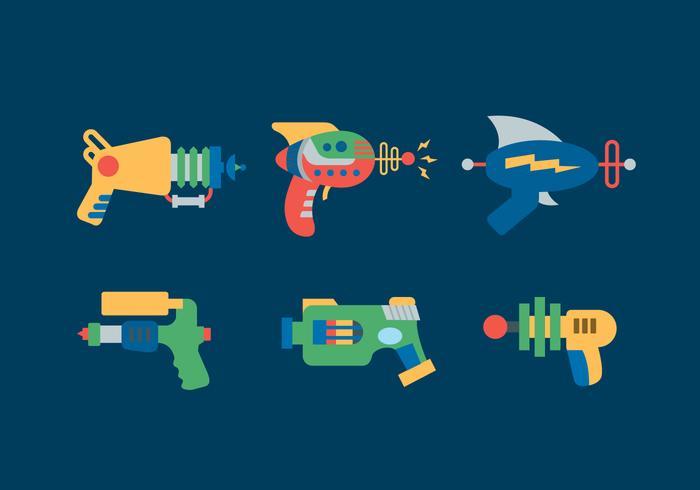 Laser Gun Vector Illustrations