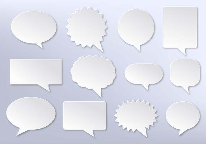 Free Vector Imessage, White Communication Bubbles