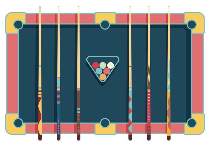 Vector de palos de la piscina