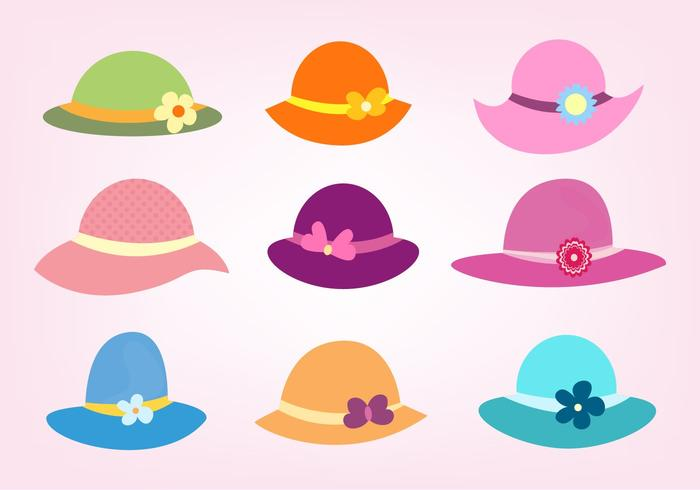 Free Vector Set Of Ladies Hats