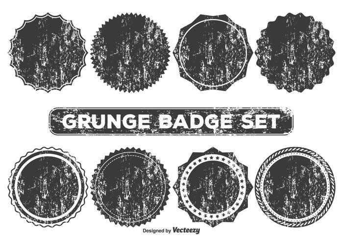 Formas de la insignia del estilo del Grunge